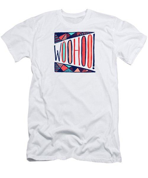 Woohoo Men's T-Shirt (Athletic Fit)