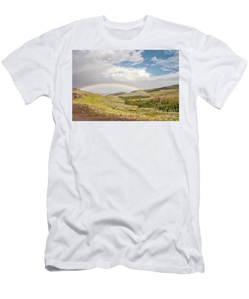 Wyoming Double Rainbow Men's T-Shirt (Athletic Fit)