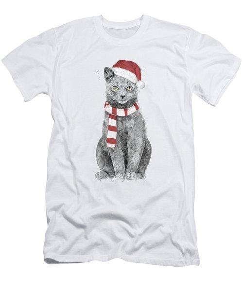 Xmas Cat Men's T-Shirt (Athletic Fit)
