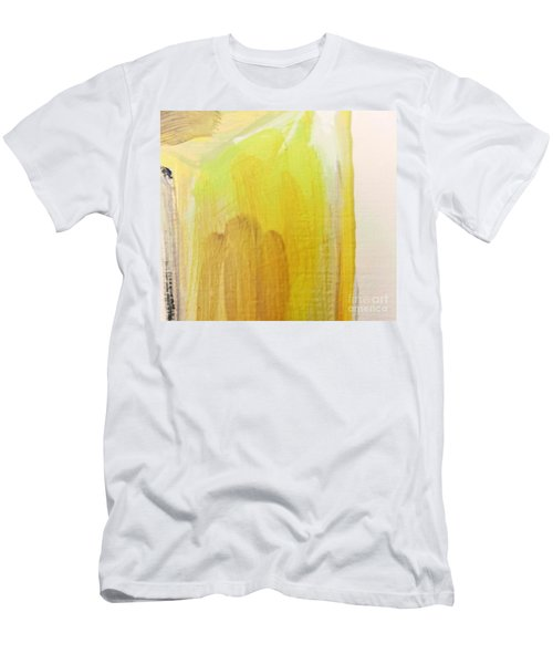 Men's T-Shirt (Athletic Fit) featuring the painting Yellow #3 by Maria Langgle