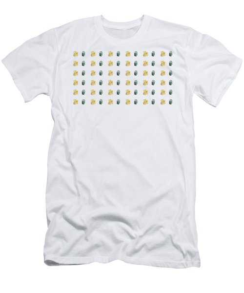 Yellow And Green Present Pattern Men's T-Shirt (Athletic Fit)