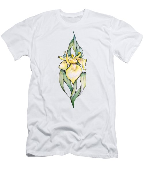 Yellow Iris Flower Men's T-Shirt (Athletic Fit)