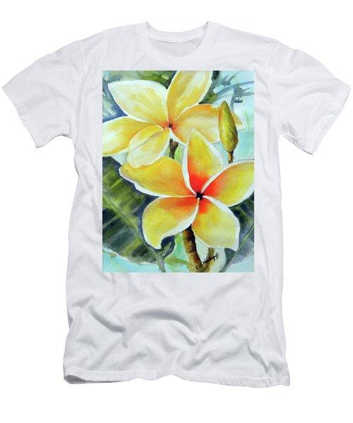 Yellow Plumeria Men's T-Shirt (Athletic Fit)