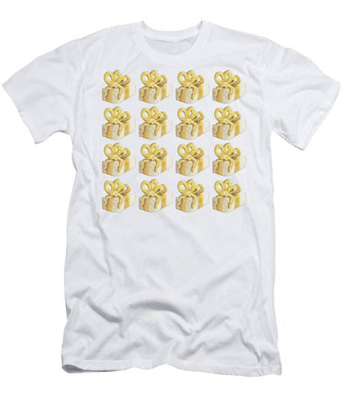 Yellow Presents Pattern Men's T-Shirt (Athletic Fit)