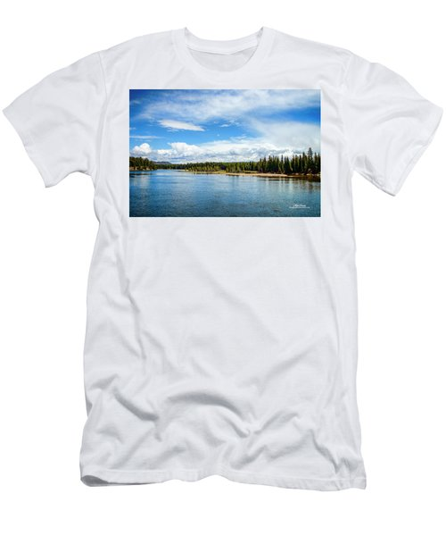 Men's T-Shirt (Athletic Fit) featuring the photograph Yellowstone River by Mike Braun