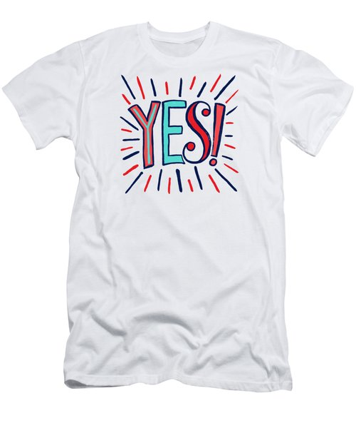 Yes Men's T-Shirt (Athletic Fit)