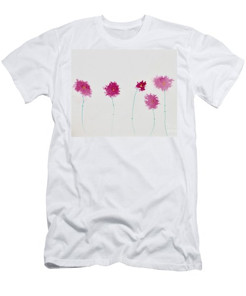 Men's T-Shirt (Athletic Fit) featuring the painting Yesterday's Petals by Kim Nelson