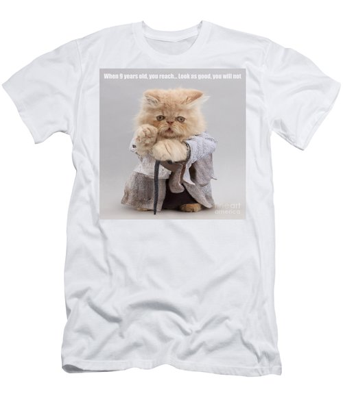 Men's T-Shirt (Athletic Fit) featuring the photograph Yoda Cat by Warren Photographic
