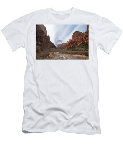 Zion National Park And Virgin River Men's T-Shirt (Athletic Fit)