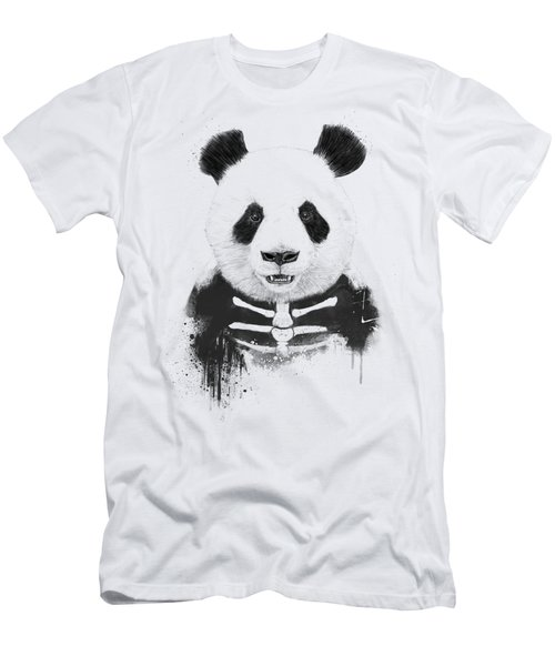 Zombie Panda Men's T-Shirt (Athletic Fit)