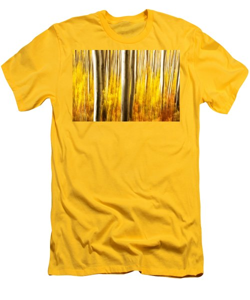Men's T-Shirt (Slim Fit) featuring the photograph Fall Abstract by Ronda Kimbrow