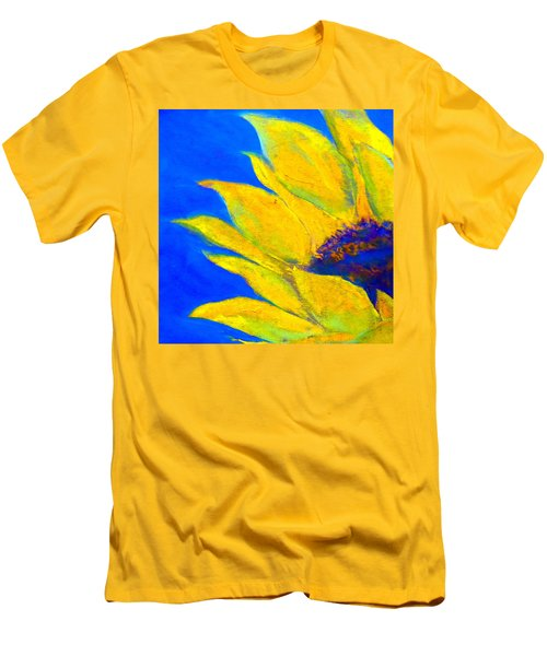 Sunflower In Blue Men's T-Shirt (Athletic Fit)