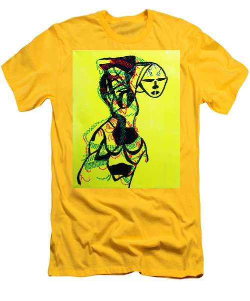 Dinka Lady - South Sudan Men's T-Shirt (Athletic Fit)