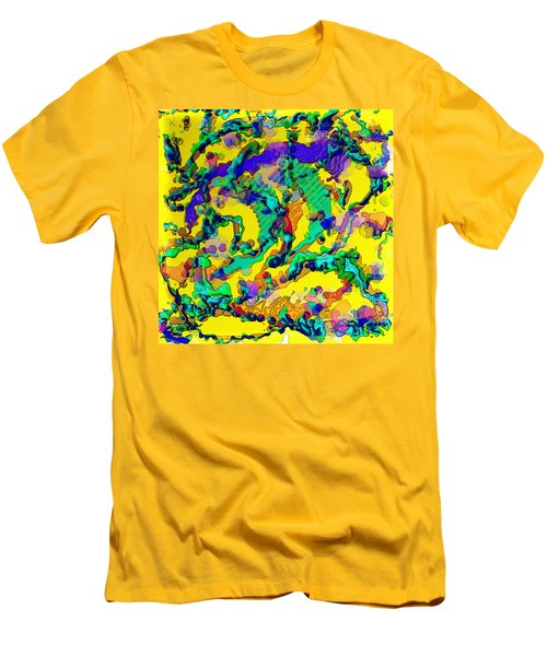 Men's T-Shirt (Slim Fit) featuring the digital art Alien Dna by Alec Drake