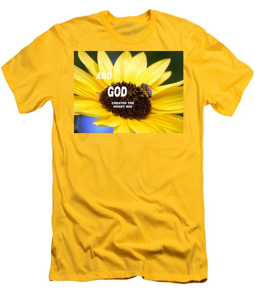 And God Created The Honey Bee Men's T-Shirt (Athletic Fit)