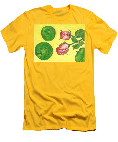 Apples And Roses Men's T-Shirt (Athletic Fit)
