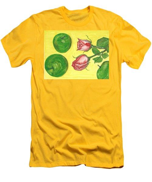 Apples And Roses Men's T-Shirt (Slim Fit)