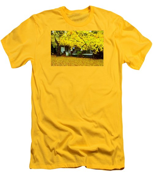 Men's T-Shirt (Slim Fit) featuring the photograph Autumn Homestead by Rodney Lee Williams