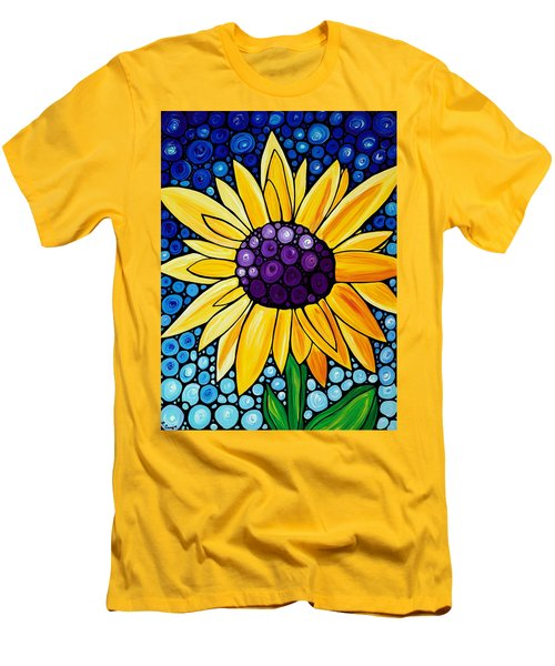 Men's T-Shirt (Athletic Fit) featuring the painting Basking In The Glory by Sharon Cummings