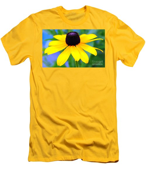 Men's T-Shirt (Slim Fit) featuring the photograph Black Eyed Susan by Judy Palkimas