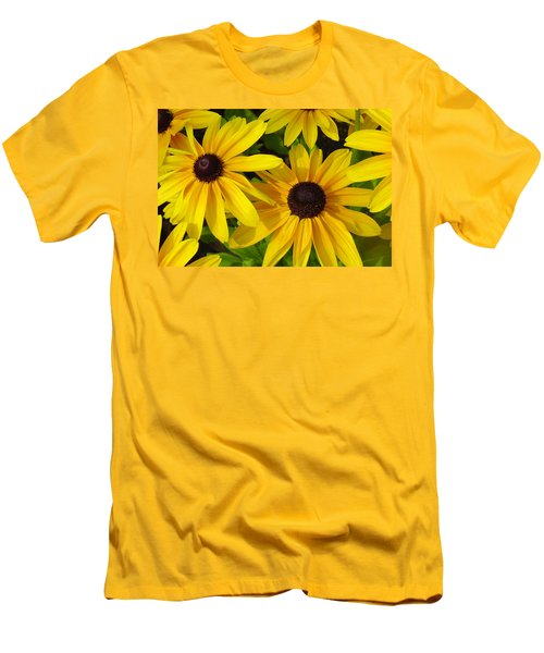 Black Eyed Susans Men's T-Shirt (Slim Fit) by Suzanne Gaff