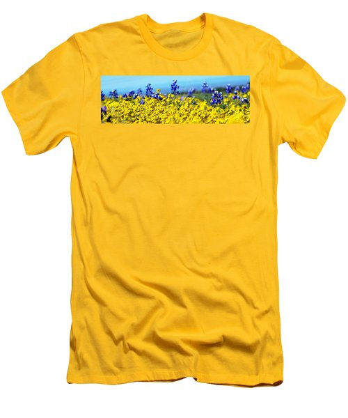 Blue And Yellow Wildflowers Men's T-Shirt (Slim Fit)