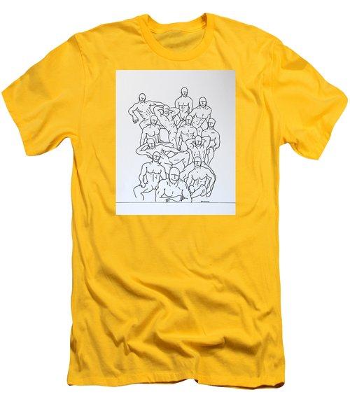 Boys At Play #4 Men's T-Shirt (Slim Fit) by Thomas Gronowski