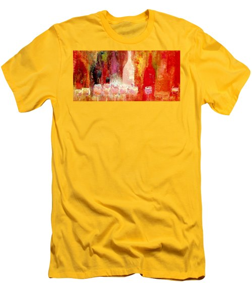Men's T-Shirt (Slim Fit) featuring the painting Broadway Wine Chorus  by Lisa Kaiser