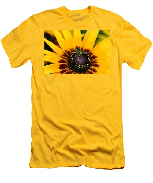 Men's T-Shirt (Slim Fit) featuring the photograph Busy Bee by Denyse Duhaime