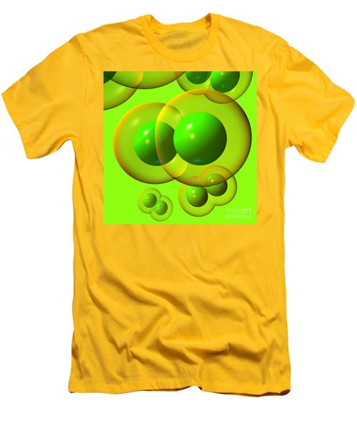 Men's T-Shirt (Athletic Fit) featuring the digital art Chlorine Molecule 1 Green by Russell Kightley
