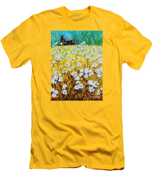 Cotton Fields Back Home Men's T-Shirt (Athletic Fit)