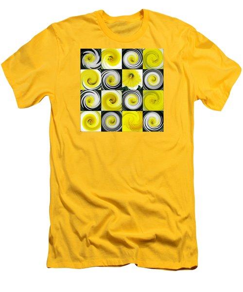 Daffodil Spring Mosaic Men's T-Shirt (Slim Fit) by Sarah Loft