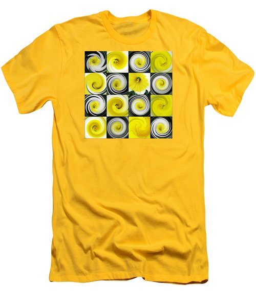 Daffodil Spring Mosaic Men's T-Shirt (Athletic Fit)