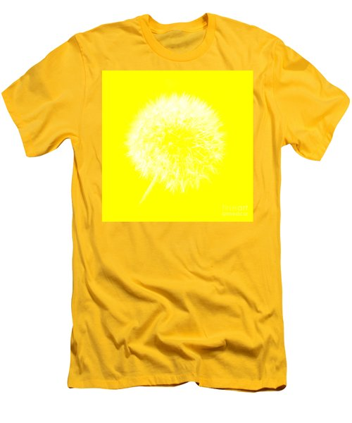 Men's T-Shirt (Athletic Fit) featuring the digital art Dandylion Yellow by Clayton Bruster