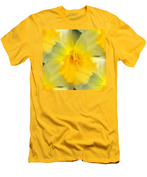 Men's T-Shirt (Slim Fit) featuring the photograph Endless Yellow Daffodil by Judy Palkimas