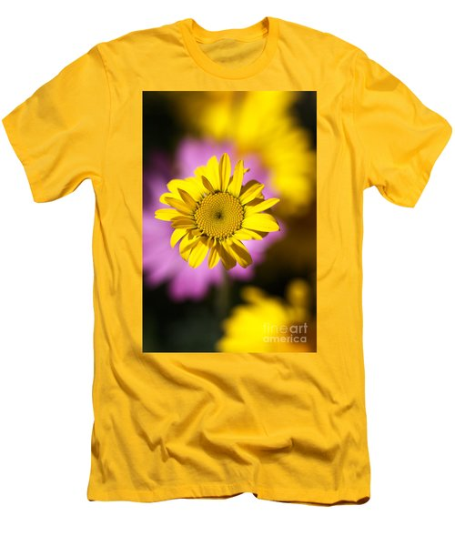 Men's T-Shirt (Slim Fit) featuring the photograph Floating Daisy by Joy Watson