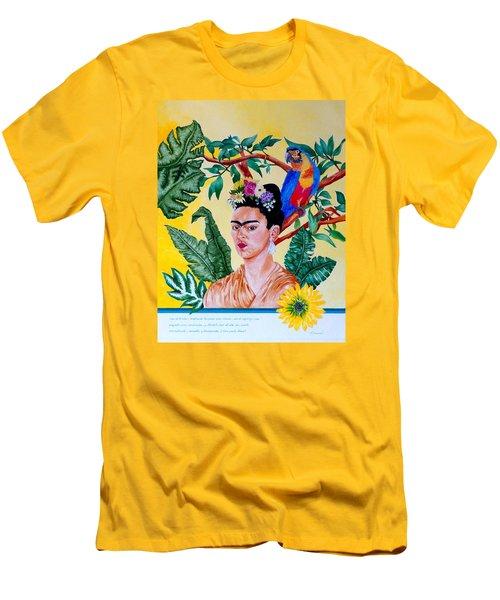 Frida Kahlo Men's T-Shirt (Slim Fit) by Thomas Gronowski