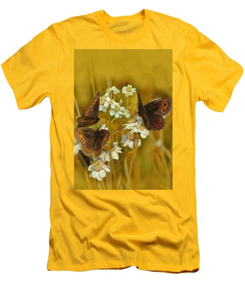 Gold And Brown Men's T-Shirt (Slim Fit) by Jacqi Elmslie