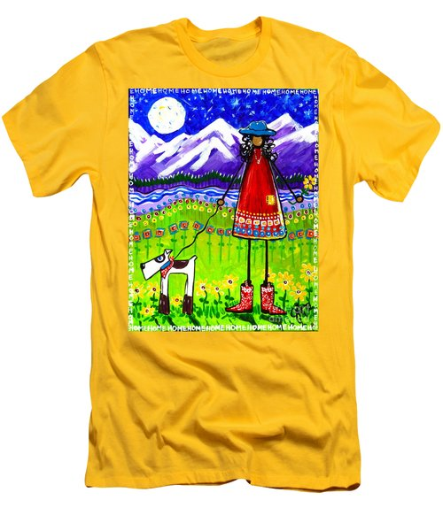 Men's T-Shirt (Slim Fit) featuring the painting Home by Jackie Carpenter