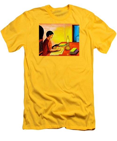 Homework Men's T-Shirt (Slim Fit) by Cyril Maza