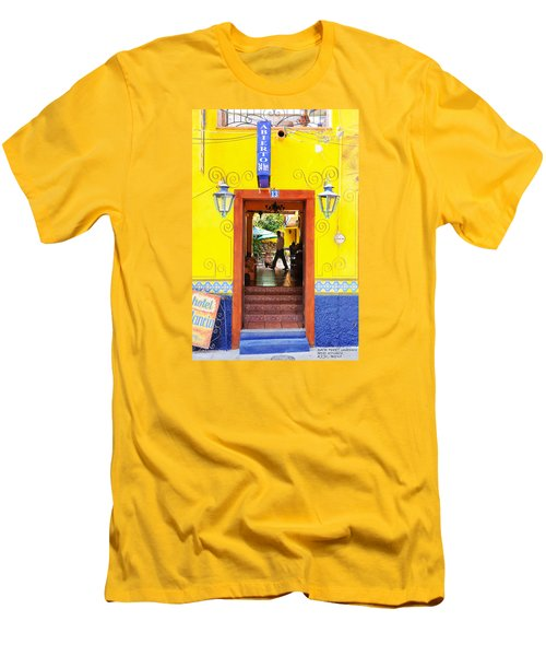 Men's T-Shirt (Slim Fit) featuring the photograph Hotel Estancia - Ajijic - Mexico by David Perry Lawrence