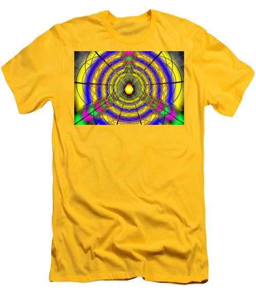 Men's T-Shirt (Slim Fit) featuring the drawing Infinity Gateway Nine by Derek Gedney