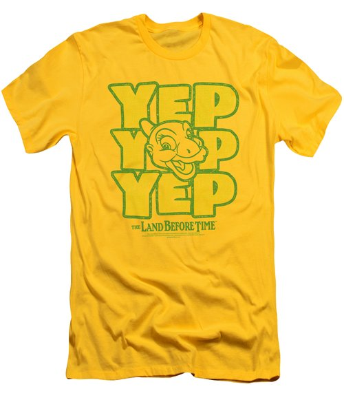 Land Before Time - Yep Yep Yep Men's T-Shirt (Athletic Fit)