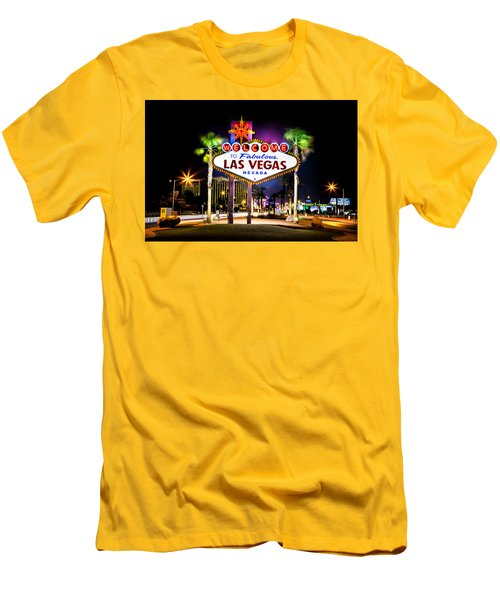 Las Vegas Sign Men's T-Shirt (Slim Fit) by Az Jackson