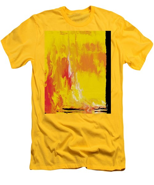 Lemon Yellow Sun Men's T-Shirt (Slim Fit) by Roz Abellera Art