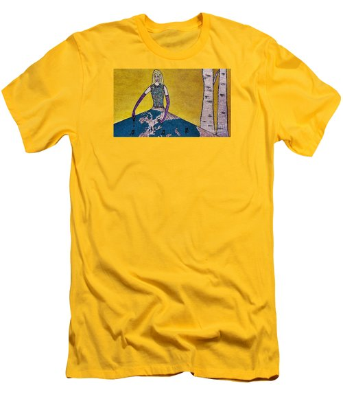 Music World By Jasna Gopic Men's T-Shirt (Slim Fit) by Jasna Gopic