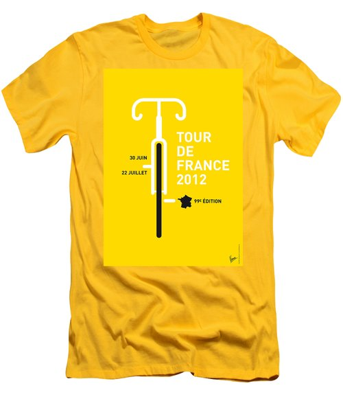 My Tour De France 2012 Minimal Poster Men's T-Shirt (Slim Fit) by Chungkong Art
