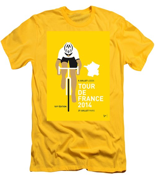 My Tour De France Minimal Poster 2014 Men's T-Shirt (Slim Fit) by Chungkong Art