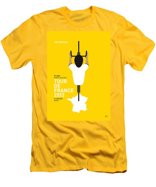 My Tour De France Minimal Poster Men's T-Shirt (Slim Fit) by Chungkong Art