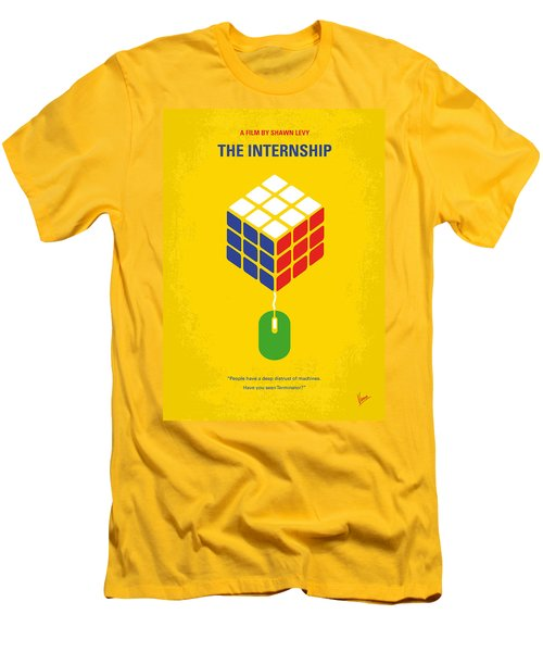 No215 My The Internship Minimal Movie Poster Men's T-Shirt (Athletic Fit)